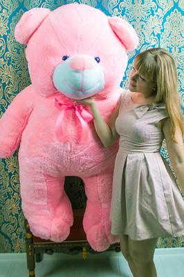 """Плюшевый мишка """"Вэтли"""", розовый, 200 см."""
