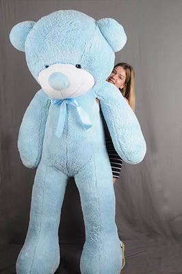 """Плюшевый мишка """"Рафаэль"""", голубой, 200 см."""