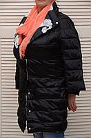 Двухсторонняя черная куртка-пальто демисезонная Италия