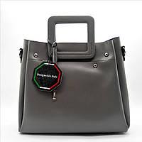 Удивительная женская сумка GАLАNTY из натуральной кожи серого цвета TRT-432096, фото 1