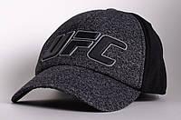 Бейсболка/кепка UFC, серая с черным