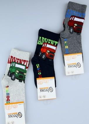 Р. 28-30 ( 5-7 лет )  носочки детские Bross демисезонные Джип