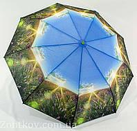 """Зонтик женский полуавтомат """"пейзаж"""" полиэстр от фирмы """"Calm Rain"""", фото 1"""