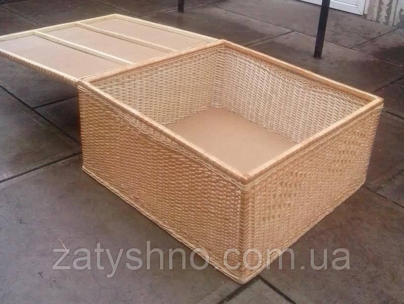 Ящик стол плетеный
