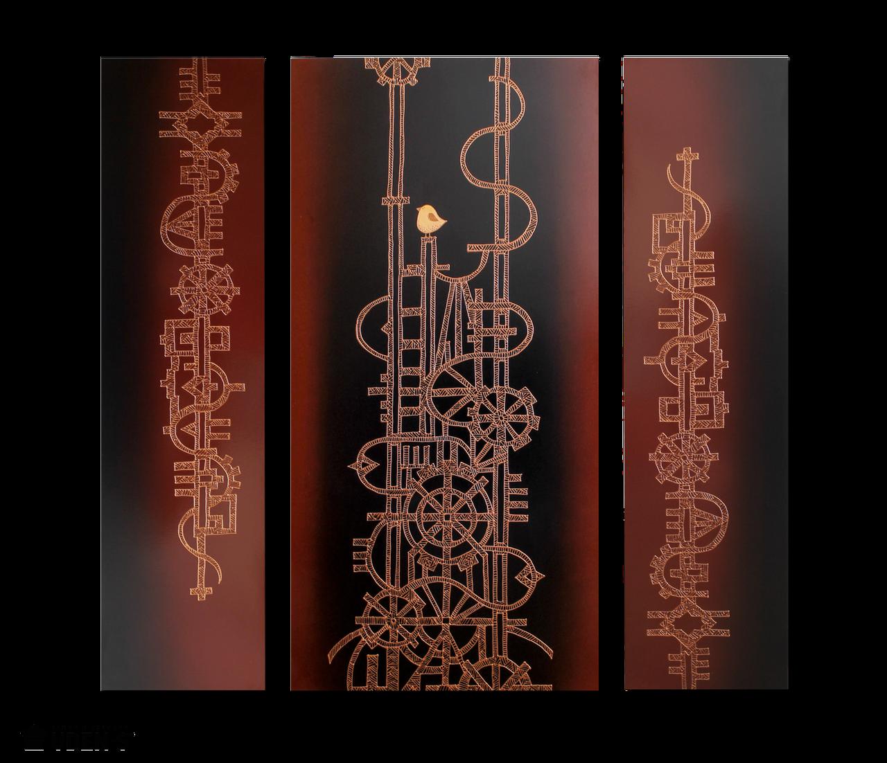 """Керамічний дизайн-обігрівач UDEN-S """"Пробудження"""" (триптих)"""