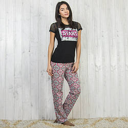 Пижама женская турецкая START: футболка и штаны Sexen 04074 M
