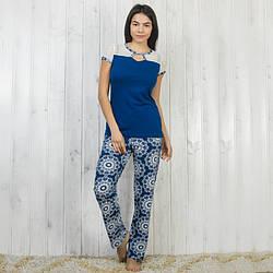 Синяя пижама женская: футболка и штаны Sexen Турция 04032