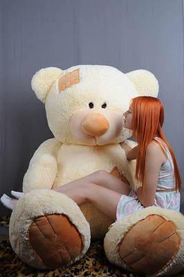 """Плюшевый мишка """"Тедди"""", кремовый, 250 см."""