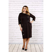 Коричневое платье из трикотажа ККК1744-0695-2