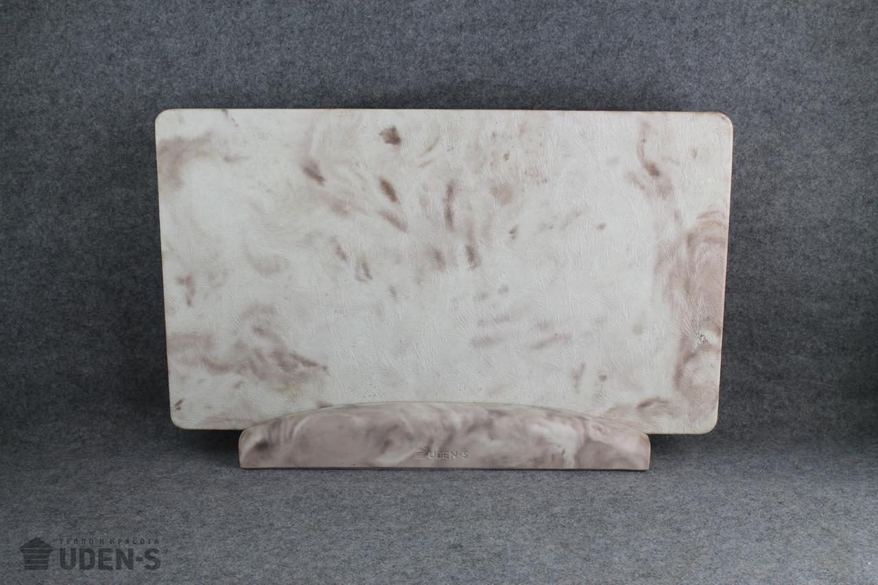 Керамогранитный дизайн-обогреватель UDEN-S Изморозь какао (ножка-планка) 450 Вт