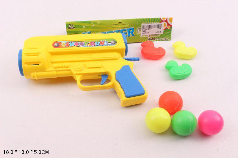 Пинг понг пистолет 7604 стреляет шариками Ping Pong