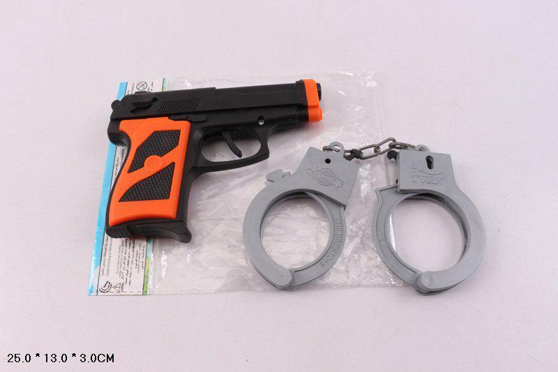 Полицейский набор 014-2 пистолет, наручники