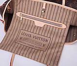 Сумка Луи Витон Neverfull канва Monogram, кожаная реплика, фото 6