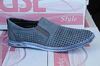 Летние мужские туфли из натуральной перфорированной кожи GSL S 01 Гол