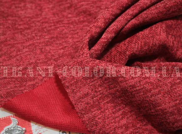 Трикотаж ангора софт червоний меланж, фото 2