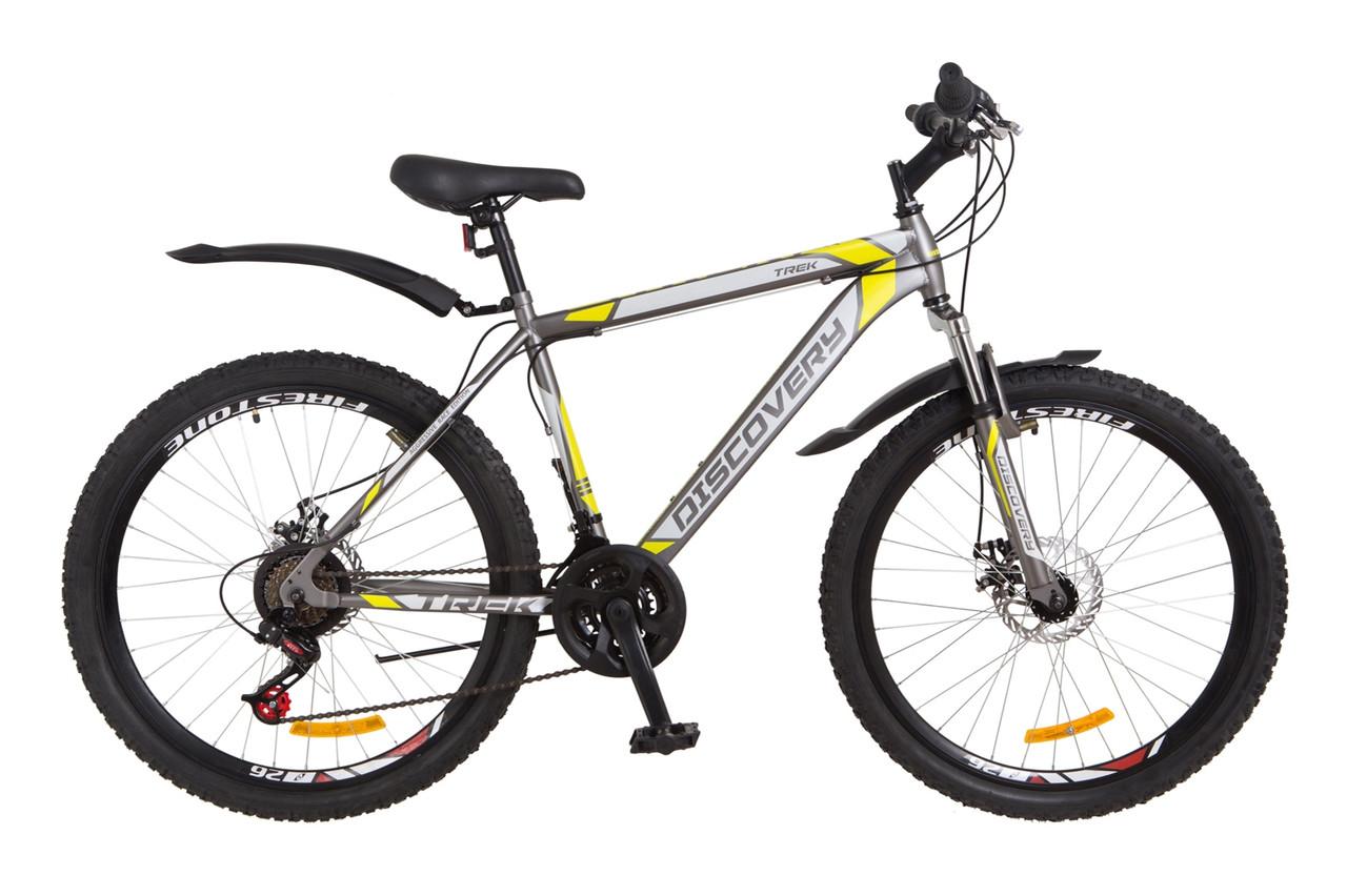 Велосипед бесплатная доставка. На дисковых тормозах спортивный Дискавери Trek 26 DD