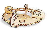 Підставка пасхальна на  8 яєць та паску кругла_фанера_4мм