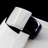 Стильное кольцо, покрытие белое золото 0766