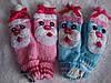 Варежки  на флисе Дед Мороз