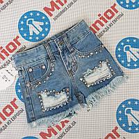 Подростковые джинсовые  рваные шорты для девочек оптом Magic Girl
