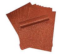 Бумага с глиттером (блестками) Медная самоклейка 20x30 см А4 1 шт