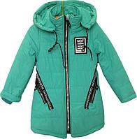"""Куртка детская демисезонная """"NoT"""" #L-8842 для девочек. 4-5-6-7-8 лет. Мята. Оптом., фото 1"""