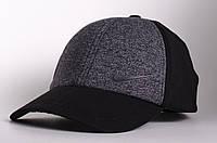 Бейсболка/кепка Nike, серая с черным (маленькое лого), фото 1