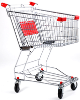 Торговые тележки, корзины покупательские, тележки для покупателей б/у, корзины б у.