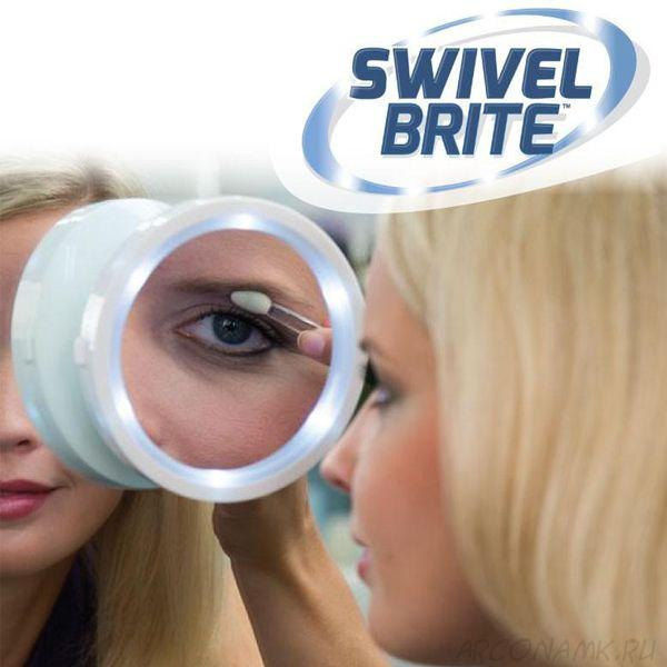 Зеркало с подсветкой для макиажа SWIVEL BRITE