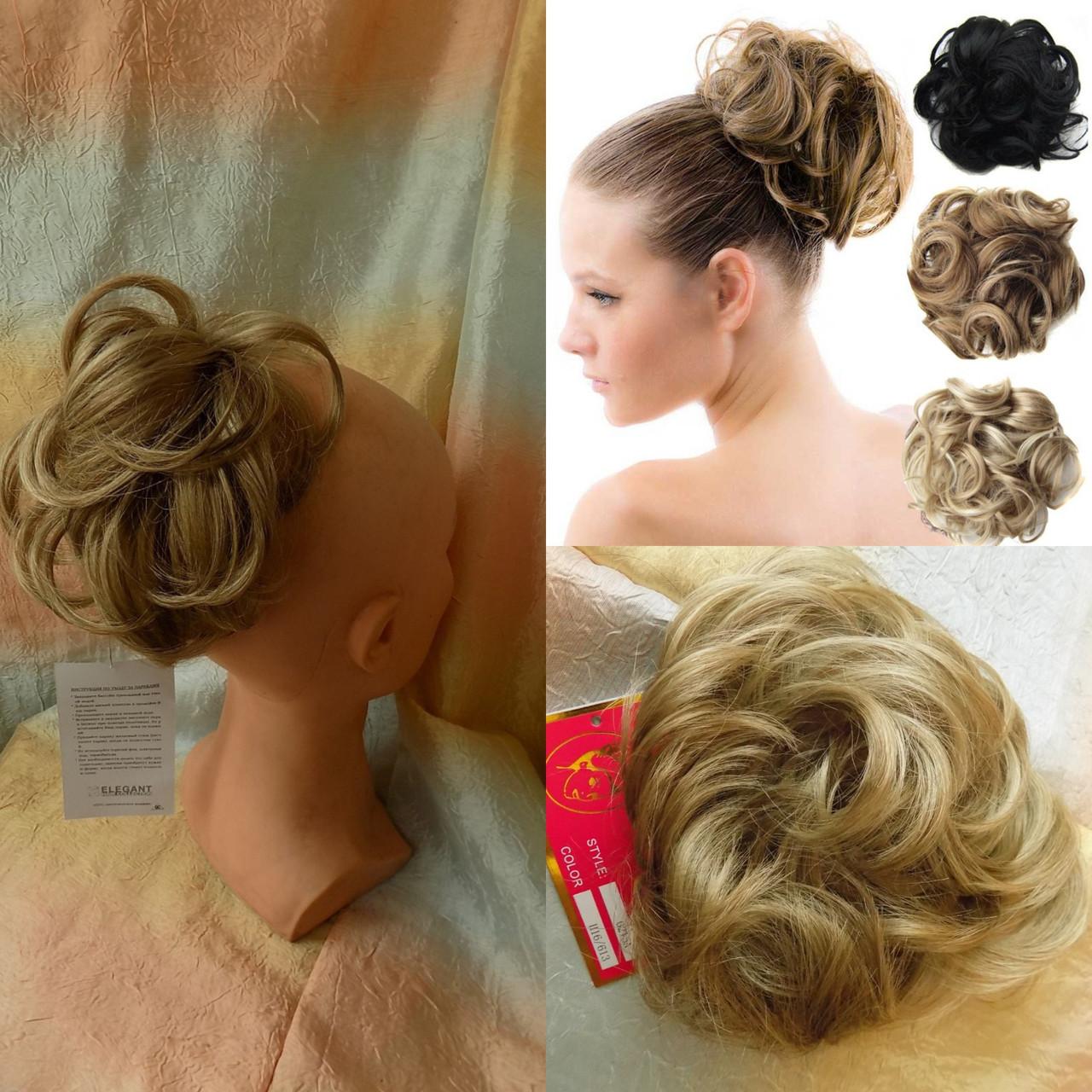 Резинка шиньон из волос песочный блонд  0215А-Н16/613