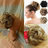 Резинка-шиньон из волос песочный блонд  0215А-Н16/613