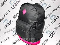 Однотонный серый рюкзак с розовым дном, спортивный