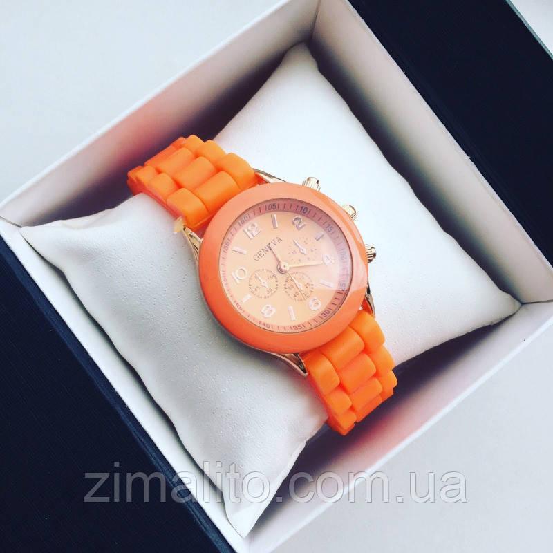 РЕПЛИКА Часов Geneva оранжевые