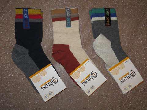 Р. 31-33 ( 7-9 лет )  носочки детские Bross демисезонные