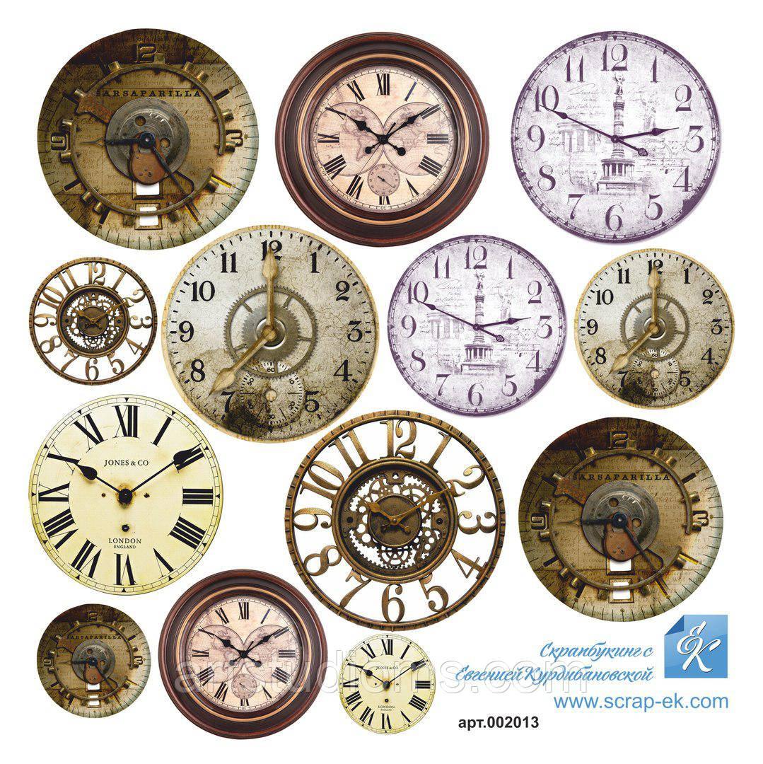 """Карточки для вырезания текстурные """"Часы"""". 15х15см поштучно"""