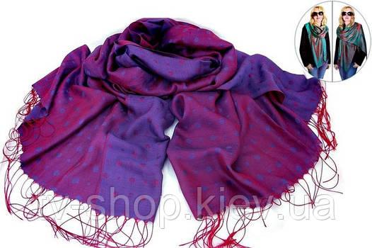 Палантин Хамелеон  лилово-фиолетовый