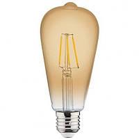 Светодиодная LED лампа Horoz Electric RUSTIC VINTAGE-6 6W E27 6Вт Е27 тёплая, 2200К