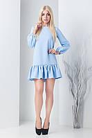 Женское однотонное платье и костюмной ткани (Шанна mrb)