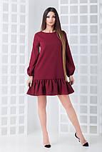 Женское однотонное платье и костюмной ткани (Шанна mrb), фото 3