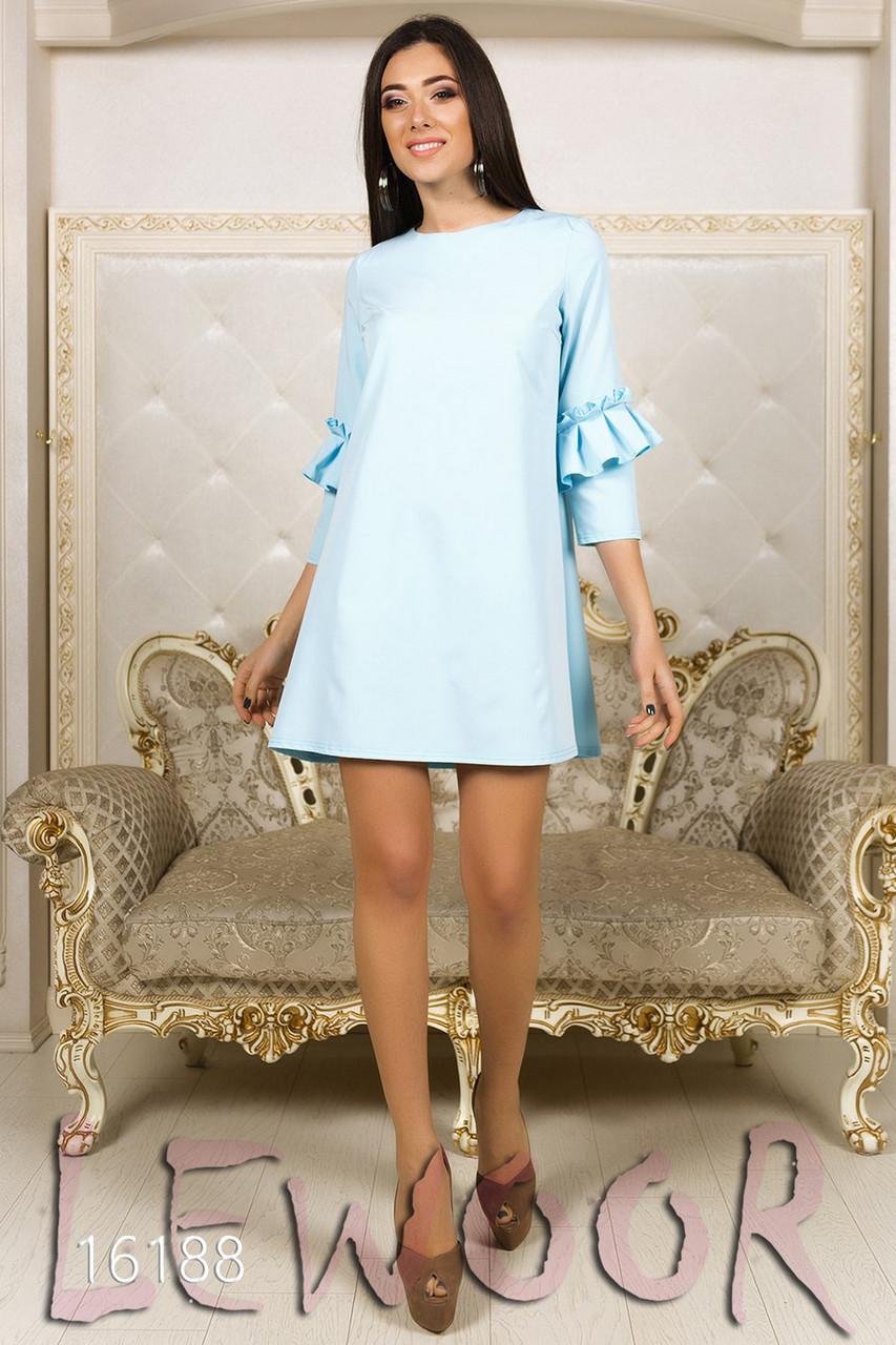 Молодежное платье А-силуэта с рукавом ¾ - LEWOOR.COM в Киеве