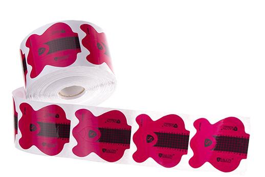 Формы для наращивания ногтей Salon, розовые с черным 500 шт.