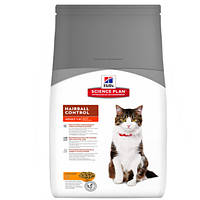 Сухой корм для кошек для выведения шерсти Хилс Hills SP Feline Adult Hairball Chicken 5 кг.