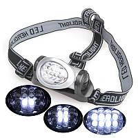 Налобный светодиодный фонарь (8LED) 88670
