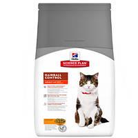 Сухой корм для кошек для выведения шерсти Хилс Hills SP Feline Adult Hairball Chicken 300 гр.