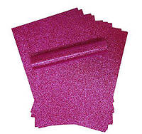 Бумага с глиттером (блестками) Фуксия самоклейка 20x30 см А4 1 шт