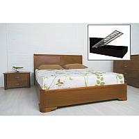 Ліжко Мілена з інтарсією та ПМ 200*140 бук Олімп, фото 1