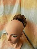 Резинка шиньон из волос светло-русый с мелированием 0215A-12Н124, фото 4