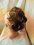 Резинка шиньон из волос светло-русый с мелированием 0215A-12Н124, фото 5