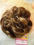 Резинка шиньон из волос светло-русый с мелированием 0215A-12Н124, фото 7