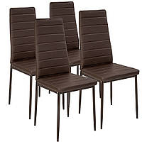 Набор кухонной мебели из 4 стульев коричневые эко